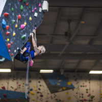 woman climbing wall Inner Peaks Climbing & Fitness Charlotte NC